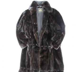 FENDI black mink coat
