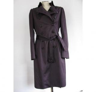 BURBERRY purple trenchcoat