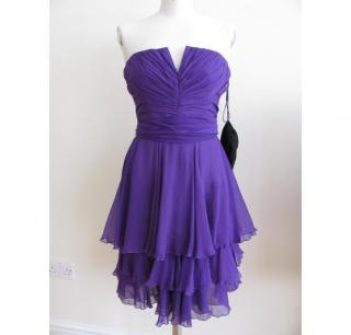 Gucci purple silk chiffon dress