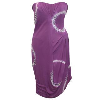 Blumarine lilac, white and crystal dress