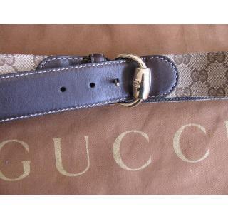 Gucci logo brown belt
