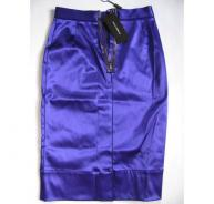 DOLCE&GABBANA purple satin skirt