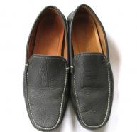PRADA grey loafers