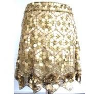 MATHEW WILLIAMSON gold metal skirt