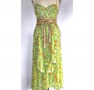 MISSONI lime silk chiffon dress