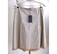 PRADA beige stretch cotton skirt