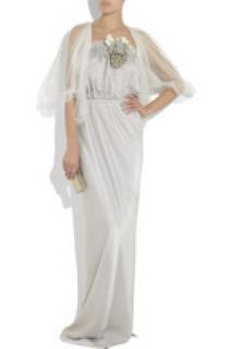 Lanvin wedding dress and shrug