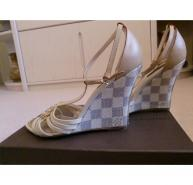 Louis Vuitton Damier Azur wedges