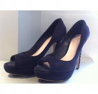 Miu Miu blue suede court shoes