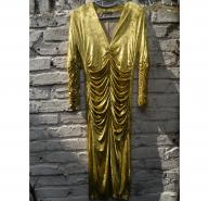 BURBERRY PRORSUM Beautiful Gold Velvet Dress