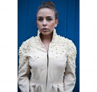 amazing CHLOE pearl embellished jacket