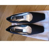 Stuart Weitzman navy Fabric Pumps