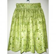 SIKA LIME GREEN HAND CUT LACE SKIRT SZ 8