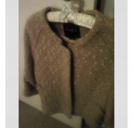 Hanii Y gold speckled wool coat