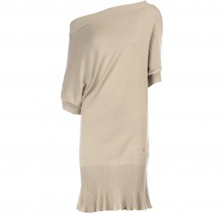 Roberto Cavalli Asymmetric Wool Dress