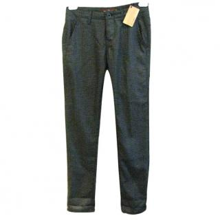 BNWT Raven Denim Hounds-tooth Trousers