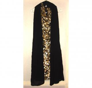 WILLOW Australia gold and black sequined evening dress UK Size 10 (Aus size 10)