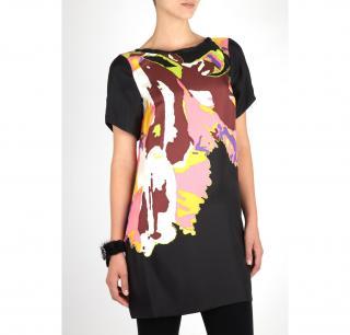 Tibi Bahati Print Silk Dress