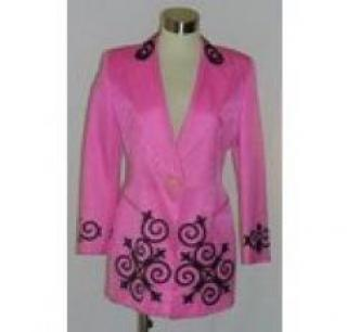 Vintage 80s Escada Couture Pink Ladies Jacket/Blazer - UK Size 14