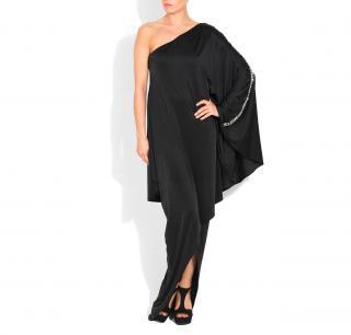 HALSTON HERITAGE Embellished black maxi dress