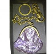 Bottega Veneta mini purse key ring