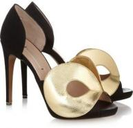 Nicholas Kirkwood satin and leather pumps