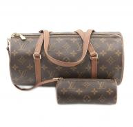 LOUIS VUITTON Monogram Canvas Papillon Bag & Purse