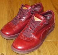 LOUIS VUITTON RED LEATHER SNEAKERS 39.5