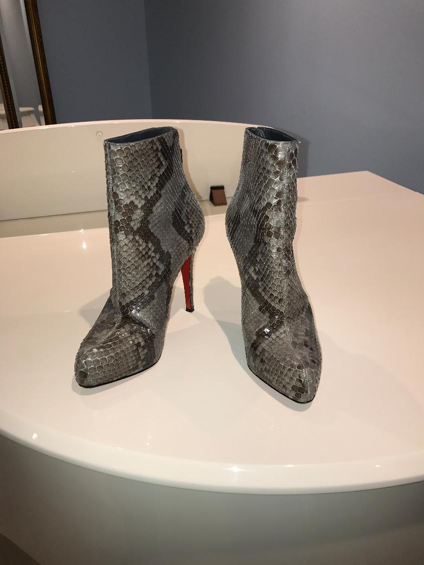 best service 3818e 0703e Christian Louboutin Snakeskin Ankle boots