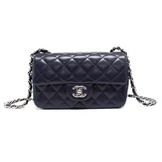 Chanel Classic Rectangular Mini Flap Bag in Navy Blue