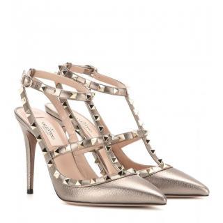 Valentino Bronze Rockstud Heels