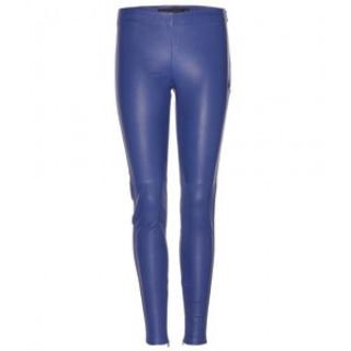 Victoria Beckham Blue Leather Leggings