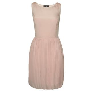Sachin + Babi Cocktail Dress With Plisse Skirt In Pink