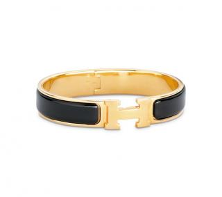 Hermes H clic Black & Gold bangle