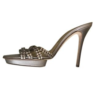 Gina Heeled Bronze Sandals