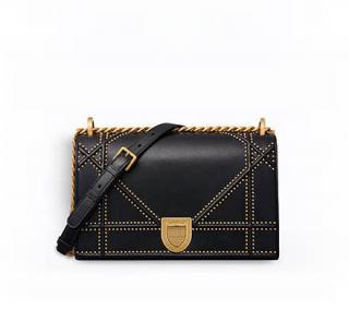 Dior Black Studded Cannage Diorama