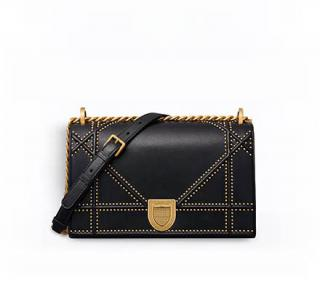Dior Black Studded Cannage Diorama