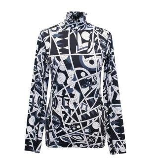 Emilio Pucci for Rossignol Printed Long Sleeve Top