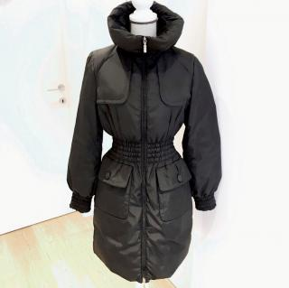 Moncler black down coat