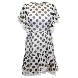 Dolce & Gabbana Silk Polkadot Ruffle Dress