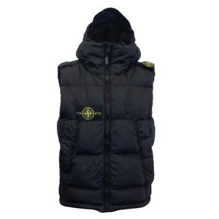 Stone Island Black Puffer Vest