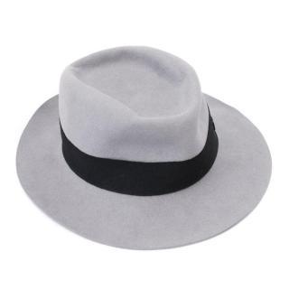 Mason Michel Grey Andre Showerproof Fur-felt Hat