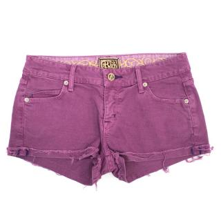 Rich and Skinny Purple Shorts