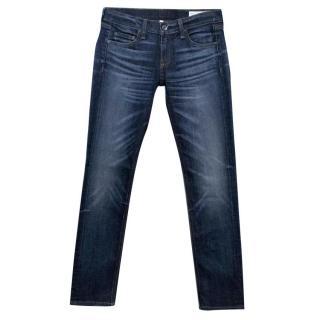 Rag and Bone Dre Washed Dark Denim Jeans