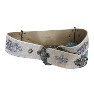 Bottege Veneta Ladies Champagne Velvet Belt