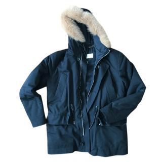 Sandro jacket with fox fur