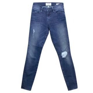 Frame 'Le High Skinny' Distressed High Waisted Jeans