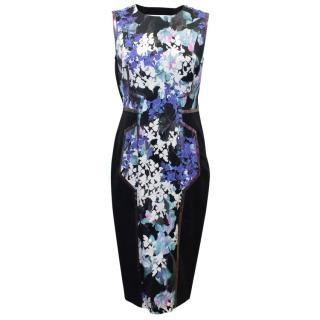 Sportmax Floral Patterned Pencil Dress