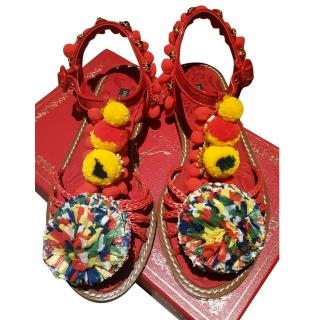 Dolce & Gabbana Pom Pom Sandals