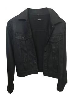 J Brand Waxed Black Jean Jacket